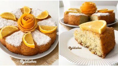 Portakallı Haşhaşlı Islak Kek Tarifi