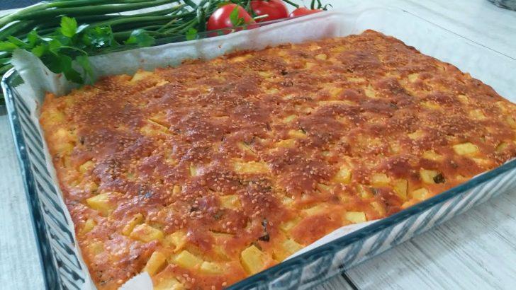 Patatesli Peynirli Tepsi Böreği Tarifi
