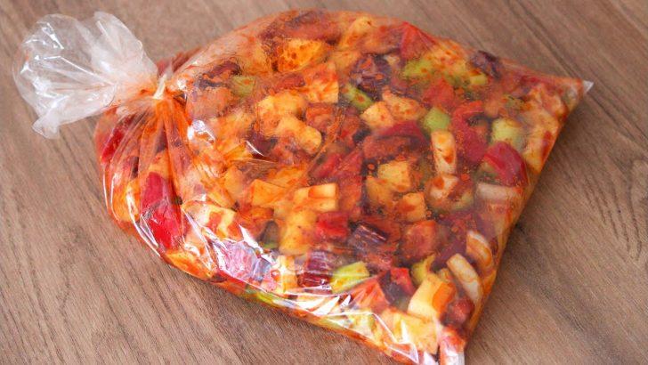 Fırın Poşetinde Pratik Sebze Yemeği Tarifi