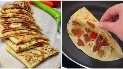 Pizza Tadında Krep Gözleme Tarifi