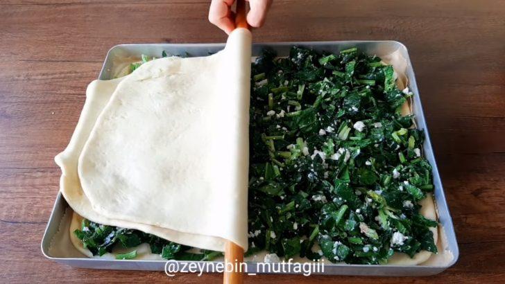 Ispanaklı Peynirli Mayalı Börek Tarifi