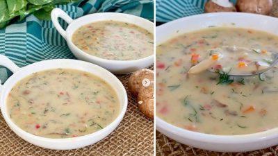 Sebzeli Mantar Çorbası Tarifi