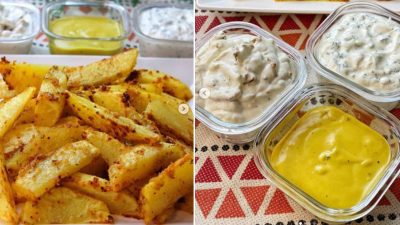 Baharatlı Çıtır Patates ve 3 Farklı Dip Sos Tarifi