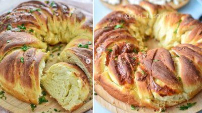 Sarımsaklı Zeytinyağlı Çörek Tarifi