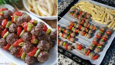 Şiş Köfte Tarifi – Fırın Patates ile