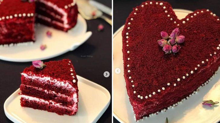 Kırmızı Kadife Pasta – Sevgililer Günü Pastası Tarifi