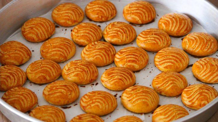Sıvı Yağlı Portakallı Kurabiye Yapılışı