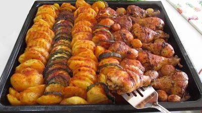 Fırında Patatesli Tavuk Baget Tarifi
