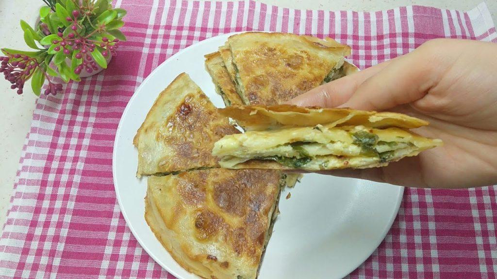 5 Dakikada Lavaş Ekmeğinden Peynirli Tava Böreği