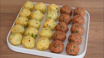 Fırında Patatesli Köfteli Yemek Tarifi